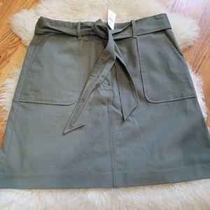 New Green Khaki LOFT Skirt 10